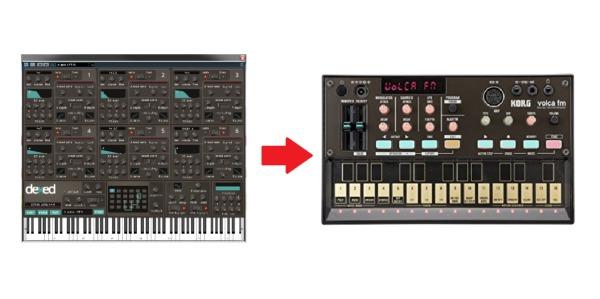 Dexed にDX7 の音を読み込む方法、volca fm に DX7の音を