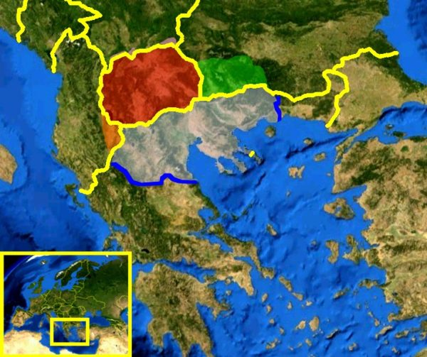 マケドニアの地図